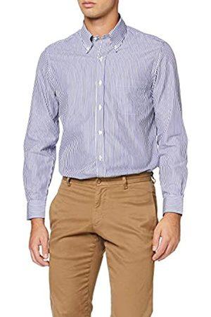 Brooks Brothers DS OG Ni Pbd Bclth Mil Darted Bnglstp Bl Camisa de Vestir