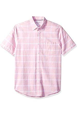 Amazon Essentials – Camisa Oxford de manga corta con bolsillo de corte entallado para hombre