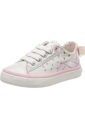 Geox Jr Ciak A, Zapatillas para Niñas, (White/Lt Pink)