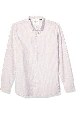 Goodthreads Slim-Fit Long-Sleeve Striped Oxford Shirt button-down-shirts, Rust Bengal Stripe