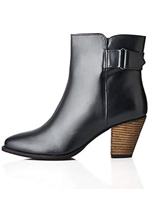 FIND Casual Ankle Leather Botines, Navy