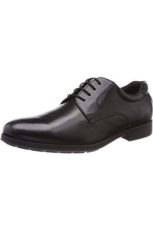 Geox U Hilstone Wide A, Zapatos de Cordones Derby para Hombre, (Black)