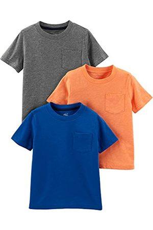 Simple Joys by Carter's Paquete de 3 camisetas de manga corta con bolsillo sólido para niños pequeños