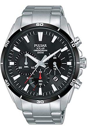 Seiko Pulsar Reloj cronografo para Hombre de Energía Solar con Correa en Acero Inoxidable PZ5059X1