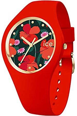 Ice-Watch ICE Flower Floral Passion Reloj Rosa para Mujer con Correa en Silicona 017576 (Small)