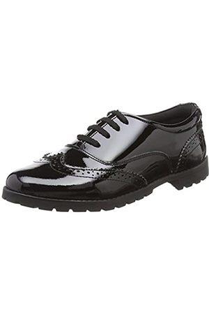 Hush Puppies Eadie, Zapatos de Cordones Brogue para Niñas, (Black)