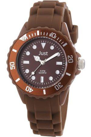 Just Watches Rubber Strap Collection 48-S5459-DBR - Reloj analógico de Cuarzo Unisex