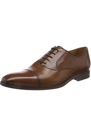 Geox U New Life E, Zapatos de Cordones Oxford para Hombre, (Cognac)