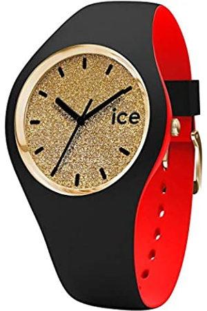 Ice-Watch ICE loulou Gold Glitter - Reloj nero para Mujer con Correa de silicona - 007238 (Medium)
