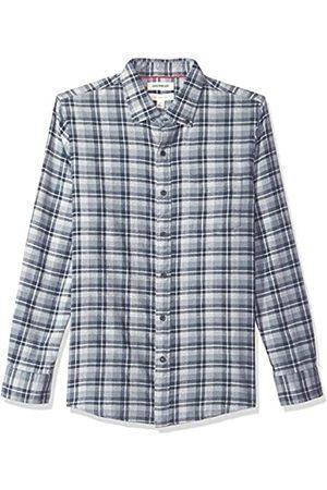 Goodthreads Marca Amazon – – Camisa jaspeada y cepillada de manga larga, corte entallado para hombre