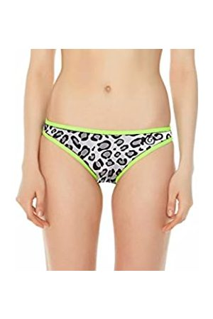 Glide Soul Mujer 0,5 mm Color Blocking Bikini Bottom – Leopard/Limón