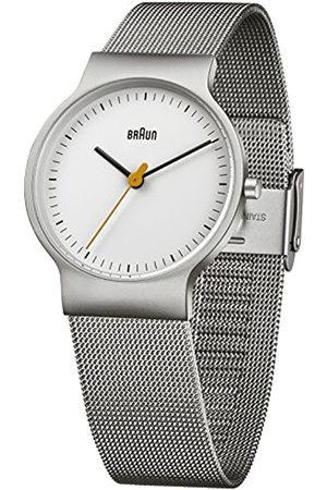 Braun Reloj analógico para Hombre de Cuarzo con Correa en Acero Inoxidable BN0211WHSLMHL