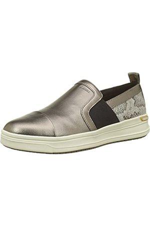 Geox J Aveup E, Zapatillas para Niñas, (Dk Gold)