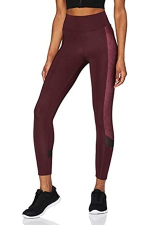 AURIQUE Amazon Brand - Leggings deportivos con panel lateral estampado para mujer, 44