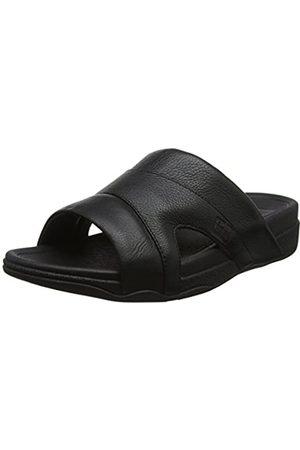 FitFlop Freeway Pool Slide in Leather, Sandalias con Punta Abierta para Hombre
