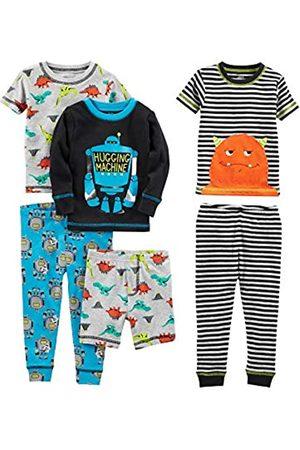 Simple Joys by Carter's Pijama dos piezas - Juego de pijama de algodón de ajuste cómodo de 6 piezas. - para niño