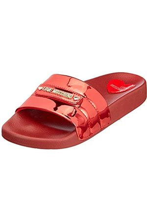 Love Moschino Sabotd.pool25 Specchio PU, Chanclas para Mujer, (Rosso 500)