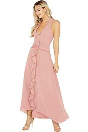 Little Mistress Ambrose Apricot Plunge Maxi Dress, vestido Mujer