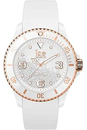 Ice-Watch ICE crystal White rose-gold - Reloj para Mujer con Correa de silicona