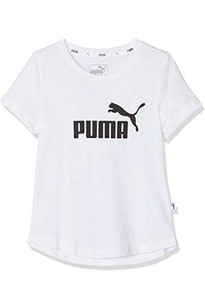PUMA Essentials G tee Camiseta de Manga Corta, Niñas, White