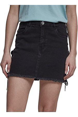 Urban Classics Ladies Denim Lace Up Skirt Falda
