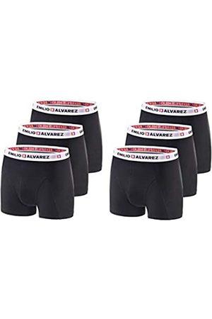 EMILIO ALVAREZ Boxershorts, Black/White, 6er Pack, XXL Calzoncillos bóxers, Hombre