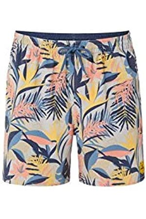 O'NEILL PM Hawaii Floral Shorts Boardshort Elasticated para Hombre, Brown- AOP w/Blue
