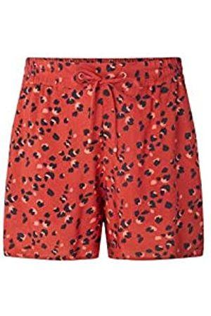 O'Neill LW Montara Drapey Shorts Pantalón Corto para Mujer, Red AOP w/Black