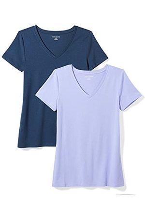 Amazon Essentials 2-Pack Short-Sleeve V-Neck Solid T-Shirt Camiseta