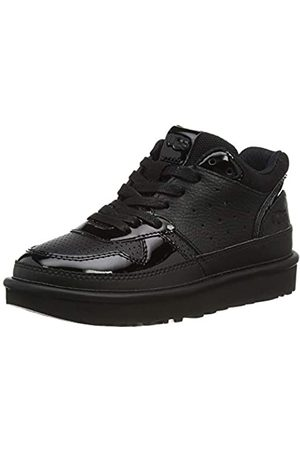 UGG Female Highland Sneaker Shoe, Black / Black