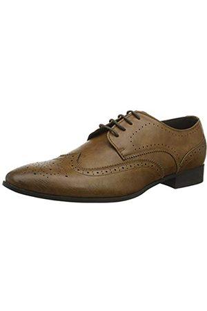 New Look 5746650, Zapatos de Cordones Brogue para Hombre, (Tan 18)