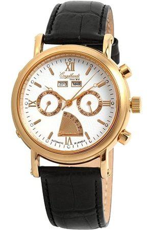 Engelhardt 385712029061 - Reloj analógico de caballero automático con correa de piel negra - sumergible a 50 metros