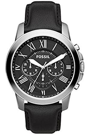 Fossil Reloj Cronógrafo para Hombre de Cuarzo con Correa en Cuero FS4812IE