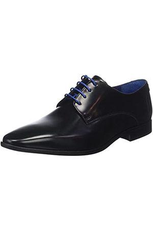 Azzaro VALMI, Zapatos de Cordones Derby para Hombre, (Noir)
