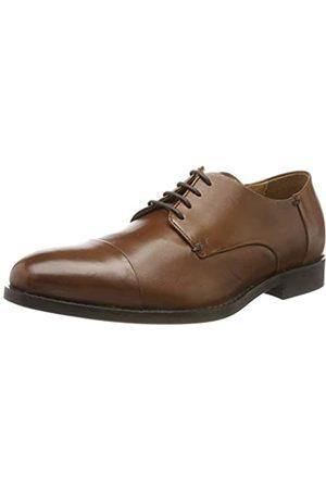 Geox U Hampstead B, Zapatos de Cordones Derby para Hombre, (Cognac C6001)