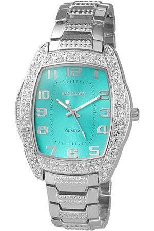 Excellanc 280523000005 - Reloj analógico de caballero de cuarzo con correa de aleación plateada