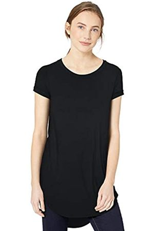 Daily Ritual Jersey Short-Sleeve Open Crew Neck Shirt Tunic-Shirts