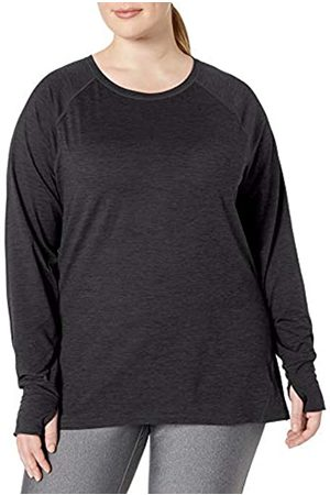 Amazon Essentials Plus Size Brushed Tech Stretch Long-Sleeve Crew Fashion-t-Shirts