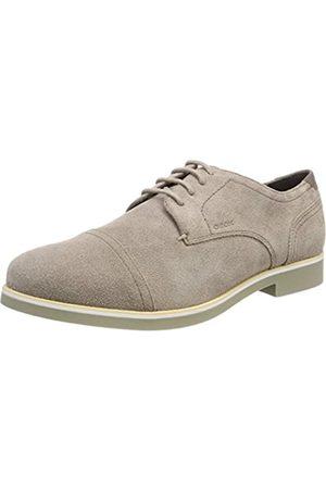 Geox U Danio C, Zapatos de Cordones Derby para Hombre, (Dk Taupe)