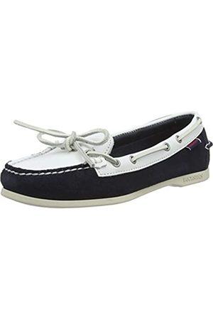 Sebago Mujer Loafers - Nina Suede Lea W, Náuticos para Mujer, (Blue Navy/White A1z)