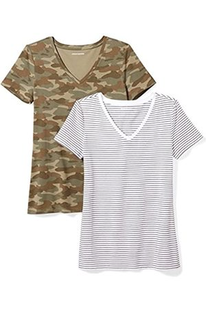 Amazon 2-Pack Short-Sleeve V-Neck Patterned T-Shirt Camiseta