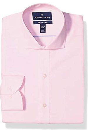 Buttoned Down Slim Fit Cutaway Collar Solid Non-Iron Dress Shirt Camisa