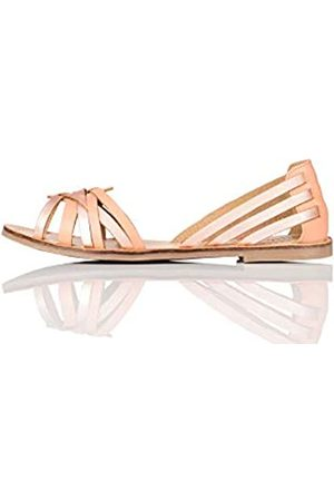FIND Marca Amazon - FIND Open Toe Hurrache Sandalias de Punta Descubierta, (Rose Gold)