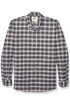 Goodthreads Standard-fit Long-Sleeve Stretch Oxford Shirt (All Hours) Camisa abotonada, Purple White Check