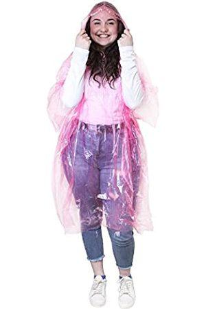 eBuyGB Chaqueta Impermeable Poncho, diseño Transparente, Color / , 127 x 100 cm, Hombre, 12165