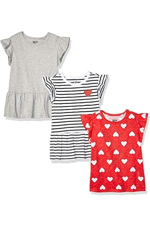 Spotted Zebra 3-Pack Short-Sleeve Ruffle Tops Fashion-t-Shirts, XX-Large (14) US