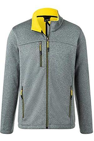 James & Nicholson Men's Softshell Jacket Chaqueta, Dark/Melange/Yellow