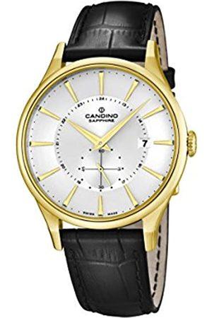 Candino Reloj Hombre de Cuarzo con Esfera Plateada Pantalla Analógica y Correa de Piel C4559/1