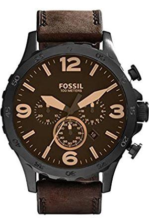 Fossil Reloj Cronógrafo para Hombre de Cuarzo con Correa en Cuero JR1487
