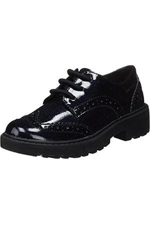 Geox J Casey K, Zapatos de Cordones Brogue para Niñas, (Navy)